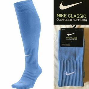 NIKE Dri-Fit knee high soccer socks NWT blue L
